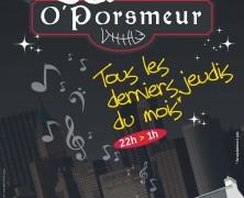 Jazz «O' Porsmeur», Jeudi 25 mai à 21h